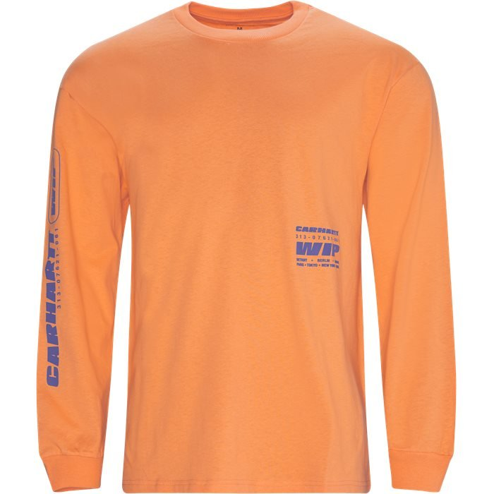 L/S Inter Tee - T-shirts - Regular - Orange